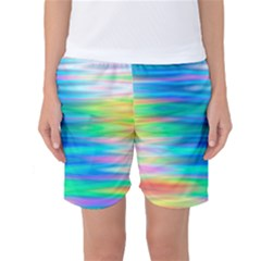 Wave Rainbow Bright Texture Women s Basketball Shorts