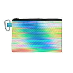 Wave Rainbow Bright Texture Canvas Cosmetic Bag (medium) by BangZart