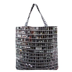 Skyscraper Glass Facade Offices Grocery Tote Bag