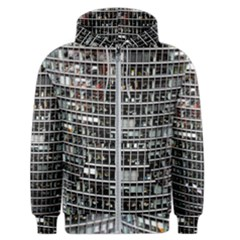 Skyscraper Glass Facade Offices Men s Zipper Hoodie