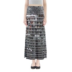 Skyscraper Glass Facade Offices Full Length Maxi Skirt