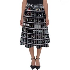 Skyscraper Glass Facade Offices Perfect Length Midi Skirt