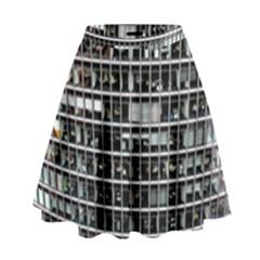 Skyscraper Glass Facade Offices High Waist Skirt