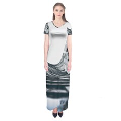 Architecture Modern Skyscraper Short Sleeve Maxi Dress