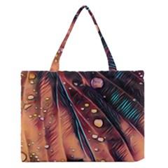 Abstract Wallpaper Images Zipper Medium Tote Bag