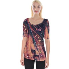 Abstract Wallpaper Images Wide Neckline Tee
