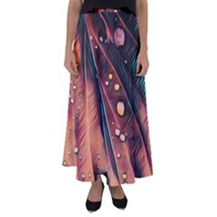 Abstract Wallpaper Images Flared Maxi Skirt