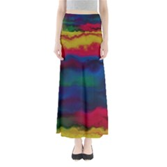 Watercolour Color Background Full Length Maxi Skirt