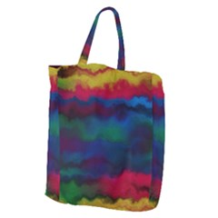 Watercolour Color Background Giant Grocery Zipper Tote