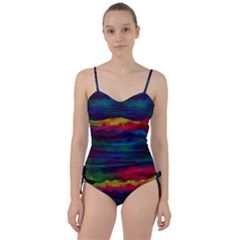 Watercolour Color Background Sweetheart Tankini Set