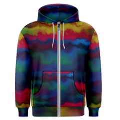 Watercolour Color Background Men s Zipper Hoodie