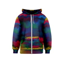 Watercolour Color Background Kids  Zipper Hoodie
