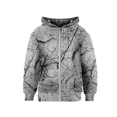 Abstract Background Texture Grey Kids  Zipper Hoodie