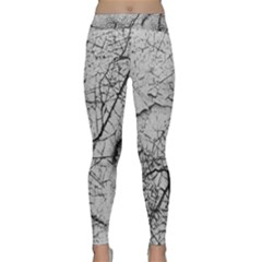 Abstract Background Texture Grey Classic Yoga Leggings