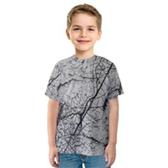 Abstract Background Texture Grey Kids  Sport Mesh Tee