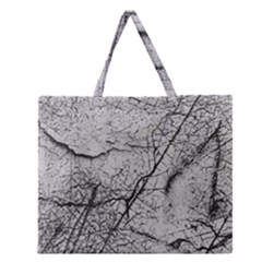 Abstract Background Texture Grey Zipper Large Tote Bag