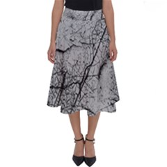 Abstract Background Texture Grey Perfect Length Midi Skirt