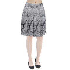 Abstract Background Texture Grey Pleated Skirt