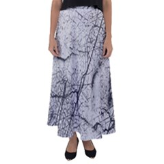 Abstract Background Texture Grey Flared Maxi Skirt