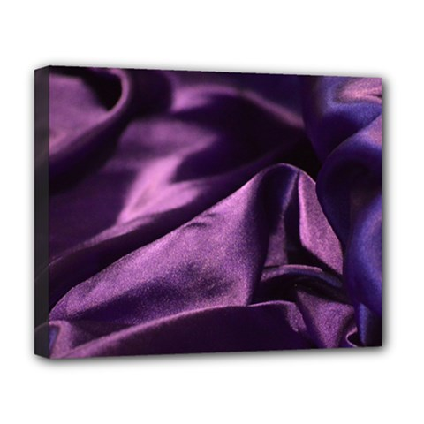 Shiny Purple Silk Royalty Deluxe Canvas 20  X 16