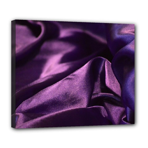 Shiny Purple Silk Royalty Deluxe Canvas 24  X 20