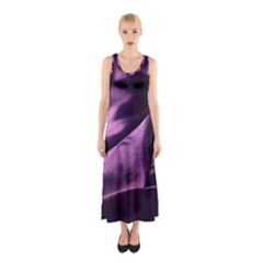 Shiny Purple Silk Royalty Sleeveless Maxi Dress
