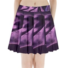 Shiny Purple Silk Royalty Pleated Mini Skirt