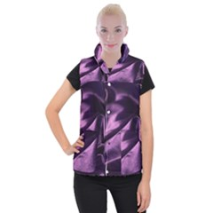 Shiny Purple Silk Royalty Women s Button Up Puffer Vest