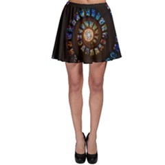Stained Glass Spiral Circle Pattern Skater Skirt