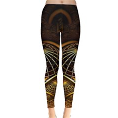 Fractal 3d Render Design Backdrop Leggings