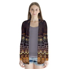 Fractal 3d Render Design Backdrop Drape Collar Cardigan