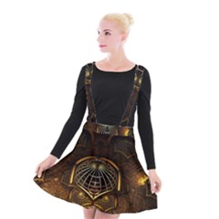 Fractal 3d Render Design Backdrop Suspender Skater Skirt