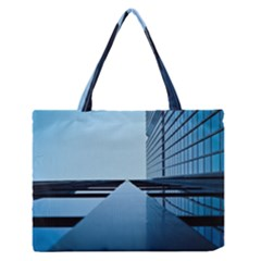 Architecture Modern Building Facade Zipper Medium Tote Bag