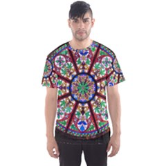 Church Window Window Rosette Men s Sports Mesh Tee