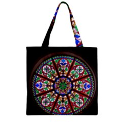 Church Window Window Rosette Zipper Grocery Tote Bag