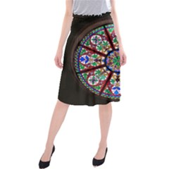 Church Window Window Rosette Midi Beach Skirt