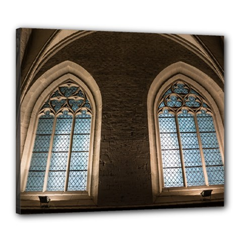 Church Window Church Canvas 24  X 20