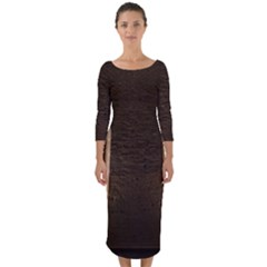 Church Window Church Quarter Sleeve Midi Bodycon Dress