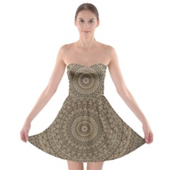 Background Mandala Strapless Bra Top Dress