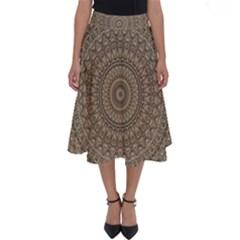 Background Mandala Perfect Length Midi Skirt
