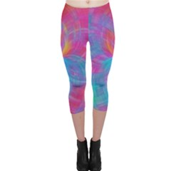 Abstract Fantastic Fractal Gradient Capri Leggings