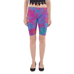 Abstract Fantastic Fractal Gradient Yoga Cropped Leggings