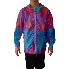 Abstract Fantastic Fractal Gradient Hooded Wind Breaker (kids)