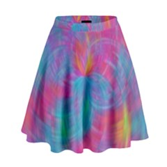Abstract Fantastic Fractal Gradient High Waist Skirt by BangZart