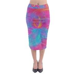 Abstract Fantastic Fractal Gradient Midi Pencil Skirt
