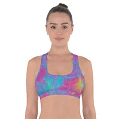 Abstract Fantastic Fractal Gradient Cross Back Sports Bra