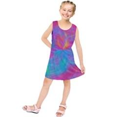 Abstract Fantastic Fractal Gradient Kids  Tunic Dress
