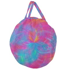 Abstract Fantastic Fractal Gradient Giant Round Zipper Tote