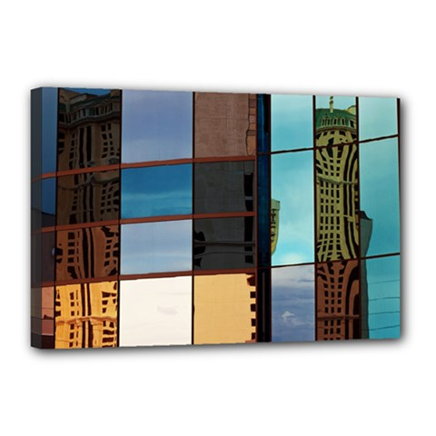 Glass Facade Colorful Architecture Canvas 18  X 12  by BangZart