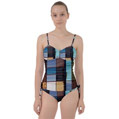 Glass Facade Colorful Architecture Sweetheart Tankini Set